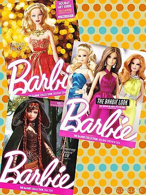 LOT 5 BARBIE COLLECTION CATALOGS 2014 2015 2016 Fall Holiday Doll Accessories