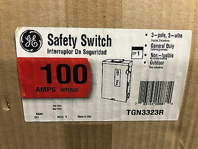 GE General Electric TGN3323R Safety Switch ** New In Box, Free Shipping **