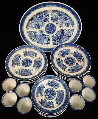"19th C. Chinese Export porcelain assembled service, blue and white ""F... Lot 264"