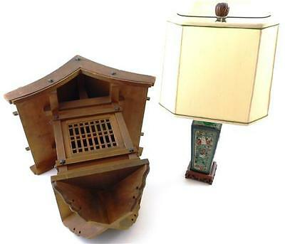 ASIAN: Two mid-20th C. lighting fixtures, table lamp and lantern: ele... Lot 177