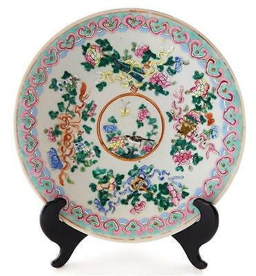 ASIAN: Chinese Export Famille Rose porcelain dish, central medallion ... Lot 184