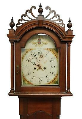 Early 19th C. American tall case clock, c. 1815/20, unsigned, cherry c... Lot 72