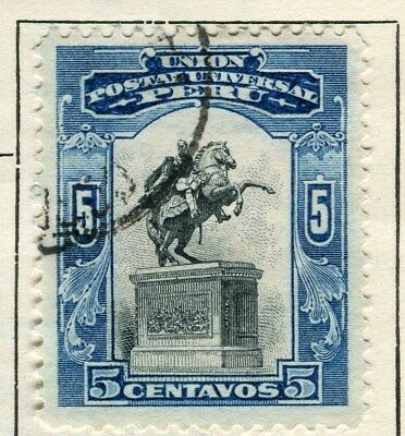 PERU;  1907 early pictorial issue fine used 5c. value