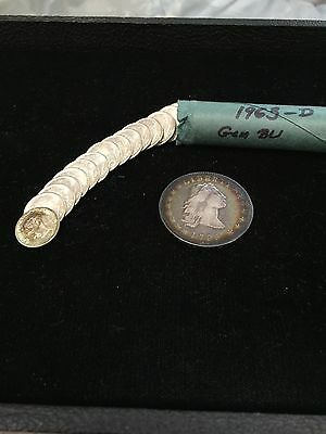 BU Roll of 1963-D Roosevelt Silver Dimes (50) Gem Uncirculated