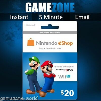 Nintendo e-Shop Gift Card Code - $20 USD USA Nintendo eShop Key 3DS/DS/Wii U