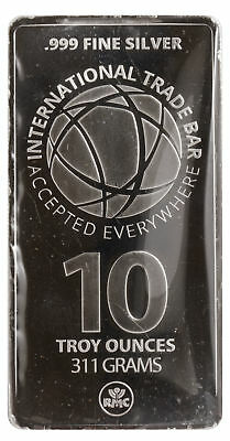 Lot of 10 - 10oz Silver Bar (Misc) 0.999