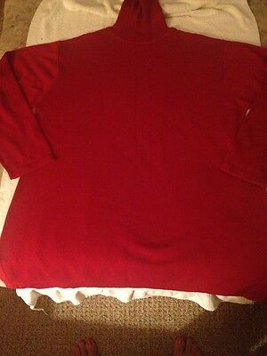 Womens Maternite' Maternity solid Red Turtleneck Sweater Large L Fall Winter