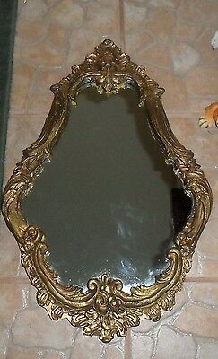 Gorgeous Italian Antique / Vintage Large Ornately Carved Wood Gold Gilt Mirror