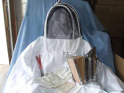 Beekeeping Jacket, Gloves, Smoker, and  Hive Tool  NEW --X XLarge Jacket
