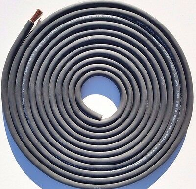 17' Foot, 4 AWG Gauge Stranded Copper Power Wire, Flexible Welding Battery Cable