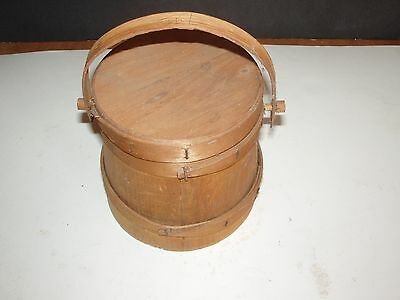 Antique Vintage Primitives Small Scale Firkin with LId Adorable!