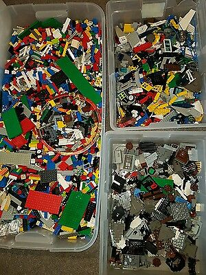 bulk mixed lego sold in 1(one) pound lots mini figures included
