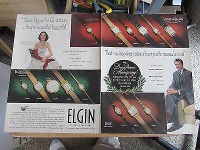 1950s ELGIN WATCH 20 x 14 inch Print Ad