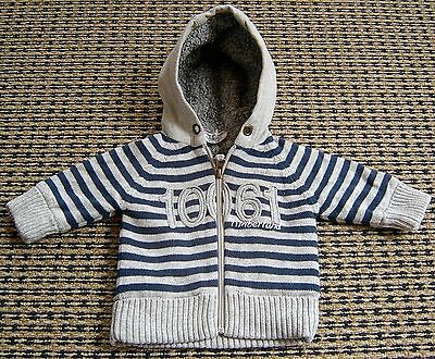 Timberland Baby Boys  Hooded Zip Front Cardigan Jacket Sz 3 Months