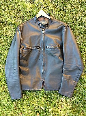 Buco Leather Motorcycle Jacket J-100 Vintage 60's Men's Cafe Racer Tagged 42