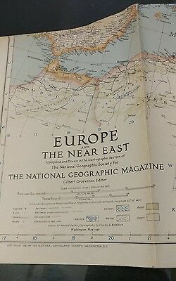 1940 Map Europe and the Near East