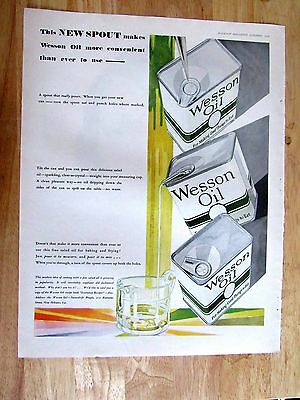 1929 WESSON OIL ad art 10 x 14 inch Print Ad