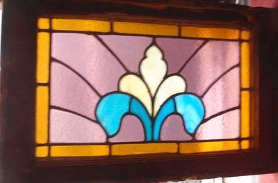 Small American stained glass window
