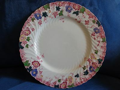 Burgess & Leigh Burslem Vermont Dinner Plate Polychrome Red Rare