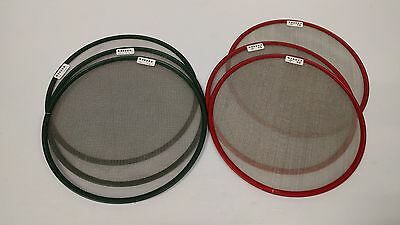 """Lot of 6x Matthews Full Double and Single Stainless Steel Diffusion Scrims - 13"""""""