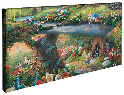 Thomas Kinkade Disney Alice in Wonderland 16 x 31 Wrapped Canvas