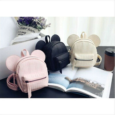 Fashion cute Minnie Mouse Mini Bag Girls Backpacks Kids Cartoon School Bag US