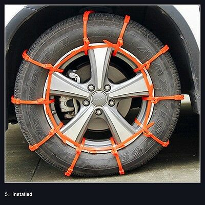10 PCS Snow Tire Chain for Car Truck SUV Anti-Skid Emergency Winter Driving New