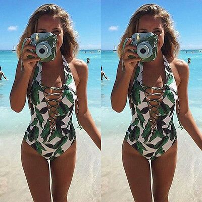 Women One Piece Monokini Swimsuit Swimwear Push Up Padded Bathing Suit Bikini US
