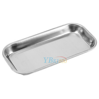 NEW Dental Stainless Steel Surgical Medical Tray Lab Instrument Tool 22.5 x 12cm