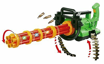 "Max Power Motorized 32"" Gatling Machine Gun Toy with Ejecting Bullets,..."
