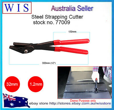 Polypropylene and Steel Strapping Cutter for Cutting Steel Straps Up to 32mm