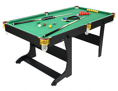 6FT Folding Billiards Pool Snooker Table with All Accessories Snooker Balls Cue