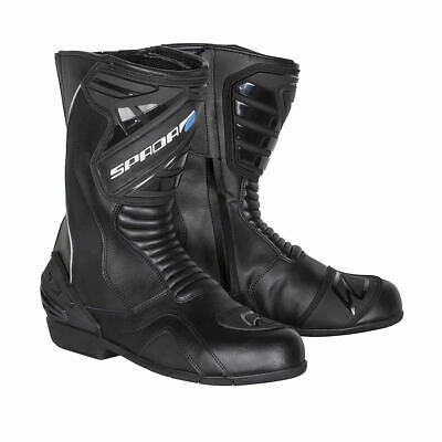 Spada Aurora Waterproof Motorcycle Motorbike Leather Reinforced Boots - Black