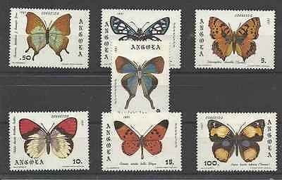 Timbres Papillons Angola 652/8 ** lot 19336