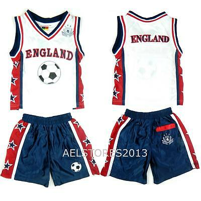 Basketball Vest Kit Shorts Top Set Summer Boys New Girl Size Age 0-12 Years Bnwt