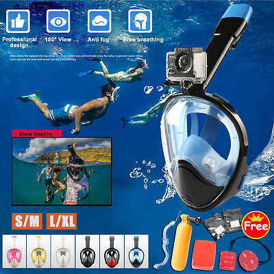 Full Face Snorkeling Snorkel Mask Diving Goggles Pipe 2nd Version For GoPro Swim