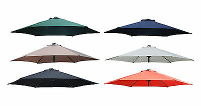 Parasol Cover - 2.7M Meter Replacement Fabric Umbrella Covers Canopy 8 Arms