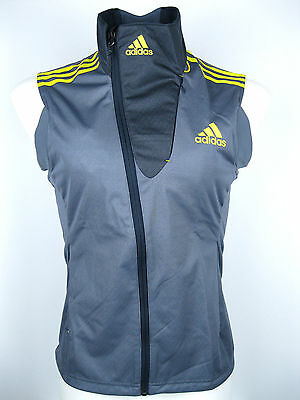 adidas Athletic Weste W Damen Laufen Joggen Outdoor Grau-Gelb