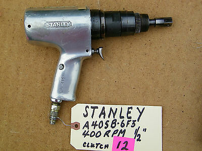 """Stanley - Pistol Wrench 1/2"""" Drive. Pneumatic -A40Sb-6F3, 400 Rpm, Used"""