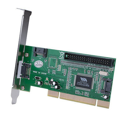 3 Port Serial ATA + 1 IDE to PCI 32 Bit RAID Card Adapter VIA6421 Chipset AC388