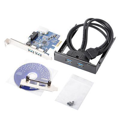 PCI Express to 2 Ports USB 3.0 Card Converter Chip D720202 Front Panel AC390
