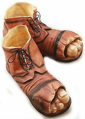 Tramp Clown Gnome Hobo Giant Big Feet Fancy Dress Costumes Shoes Boots Toes