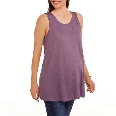 California Happenings Maternity Printed Relaxed Fit Tank Top, Moda Purple, XL