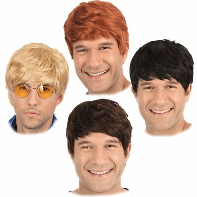 Adult Mens 60s 70s 80s 90s Short Boy Band Wig Fancy Dress Hair Accessory New