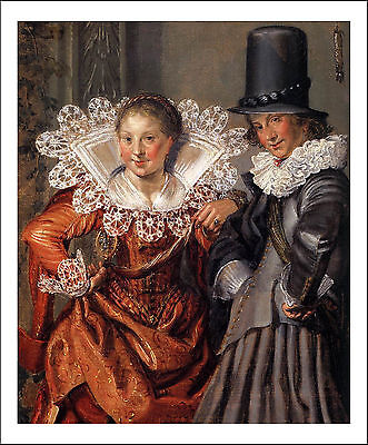 """BUYTEWECH, W - Dignified Couples Courting (detail)2, 12x8""""(A4) Poster"""