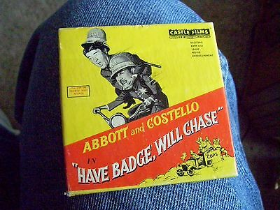 ABBOTT and COSTELLO 8 mm Castle Films  ~HAVE BADGE, WILL CHASE~ Movie