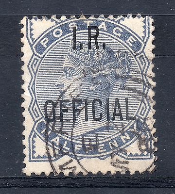 GB = Town/Village cancel. On QV stamp, `DUMFRIES` on I.R. OFFICIAL. SG O.5