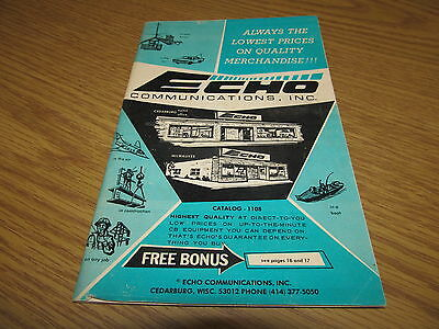 Vintage Echo Communications Catalog #1108 CB Radios and Accessories Neat Stuff