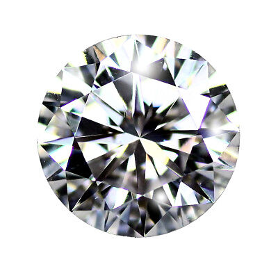 Loose Moissanite, White GH Colour Round Brilliant Hearts & Arrows Cut VVS1