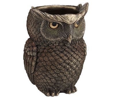 Horned Owl Scupture Holder - Holds Pens, Coins, Candy etc. Statue Figurine